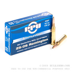 20 Rounds of 25-06 Remington Ammo by Prvi Partizan - 100gr Soft Point