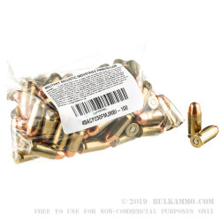 100 Rounds of .45 ACP Ammo by MBI - 230gr FMJ