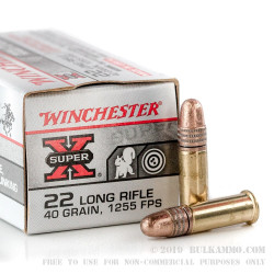50 Rounds of .22 LR Ammo by Winchester Super-X - 40gr LRN