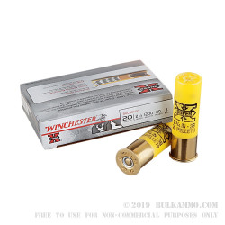 5 Rounds of 20ga Ammo by Winchester Super-X -  #3 Buck - 20 Pellet