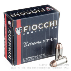 25 Rounds of .40 S&W Ammo by Fiocchi - 155gr XTP