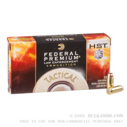 1000 Rounds of .40 S&W Ammo by Federal - 180gr HST JHP