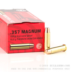 50 Rounds of .357 Mag Ammo by GECO - 158gr FMJ