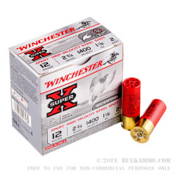 25 Rounds of 12ga Ammo by Winchester Super-X Xpert - 1 1/8 ounce #2 Shot