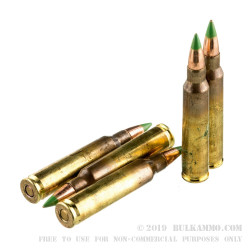 120 Rounds of 5.56x45 Ammo by Federal - 62gr FMJ XM855