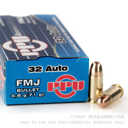 1000 Rounds of .32 ACP Ammo by Prvi Partizan - 71gr FMJ