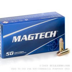 50 Rounds of .38 Super Ammo by Magtech - 130gr FMJ