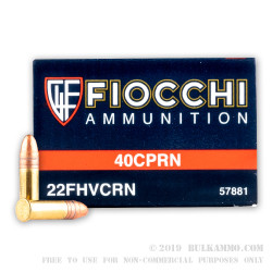 50 Rounds of .22 LR Ammo by Fiocchi - 40gr CPRN