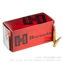 500  Rounds of .223 Ammo by Hornady - 55gr FMJBT