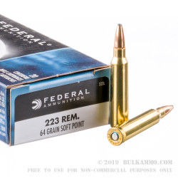 200 Rounds of .223 Ammo by Federal Power-Shok - 64gr SP