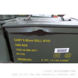 1 Surplus 50 Cal Ammo Can - Green - Used & Beat Up