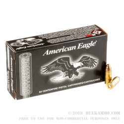 500  Rounds of 9mm Ammo by Federal - 124gr FMJ