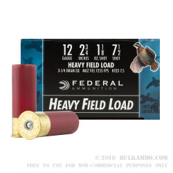 "250 Rounds of 12ga Ammo by Federal Game-Shok - 2 3/4"" 1 1/8 ounce #7 1/2 shot"
