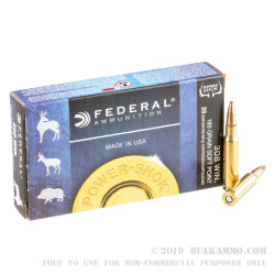 20 Rounds of .308 Win Ammo by Federal - 180gr SP