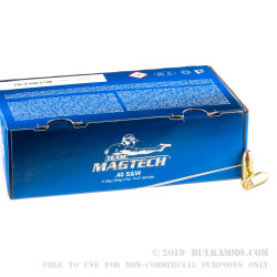 1000 Rounds of .40 S&W Ammo by Magtech - 180gr FMJ
