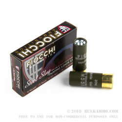 100 Rounds of 12ga Ammo by Fiocchi - 1 ounce Steel Slug