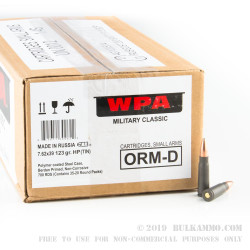 700 Rounds of 7.62x39mm Ammo by Wolf in Spam Can Tin - 123gr Hollow Point