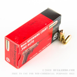 1000 Rounds of .380 ACP Ammo by GECO - 95 Grain FMJ
