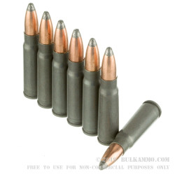 1000 Rounds of 7.62x39mm Ammo by Wolf - 125gr SP