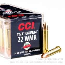 2000 Rounds of .22 WMR Ammo by CCI TNT Green - 30gr HP