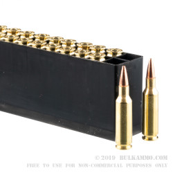 200 Rounds of .224 Valkyrie Ammo by Hornady BLACK - 75gr BTHP