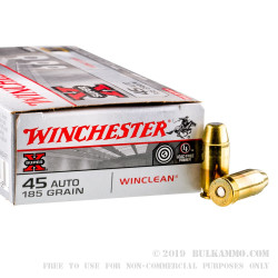 50 Rounds of .45 ACP Ammo by Winchester Super-X - 185gr BEB