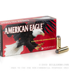 50 Rounds of .45 Long-Colt Ammo by Federal Eagle Handgun - 225gr JSP