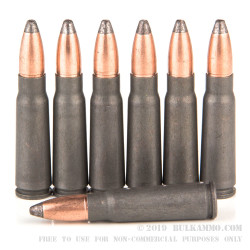 500  Rounds of 7.62x39mm Ammo by Wolf - 124gr SP