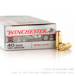 50 Rounds of .40 S&W Ammo by Winchester - 180gr BEB