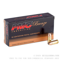 1000 Rounds of 9mm Ammo by PMC - 115gr JHP