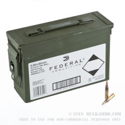 420 Rounds of 5.56x45 Ammo by Federal - 55gr FMJBT