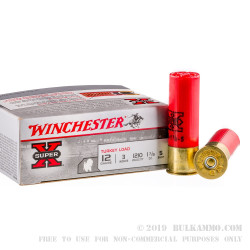 """100 Rounds of 12ga Ammo by Winchester Super-X Turkey - 3"""" 1-7/8 ounce #5 shot"""