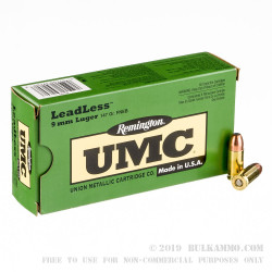 50 Rounds of 9mm Ammo by Remington - 147gr FNEB