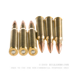 200 Rounds of 30-06 Springfield Ammo by Fiocchi Extrema - 168gr Matchking HP-BT
