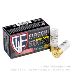 10 Rounds of 12ga High Velocity Ammo by Fiocchi -  00 Buck