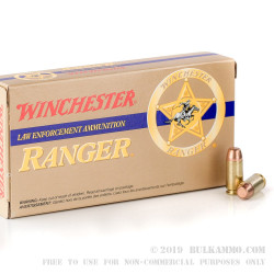 500 Rounds of .40 S&W Ammo by Winchester Ranger - 180gr FMJ