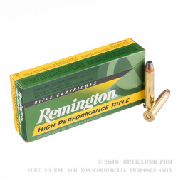 20 Rounds of .45-70 Ammo by Remington High Performance Rifle - 300 gr SJHP