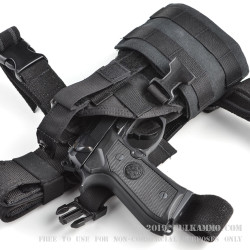 Eagle Industries Holster - Belt, Leg-Drop, or MOLLE wear options - Black