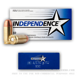 1000 Rounds of .380 ACP Ammo by Independence - 90gr FMJ