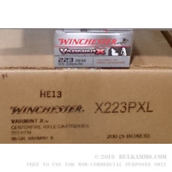40 Rounds of .223 Ammo by Winchester - 55gr Polymer Tipped