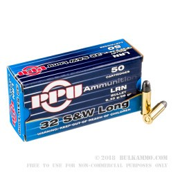 500  Rounds of .32S&W Long Ammo by Prvi Partizan - 98gr LRN
