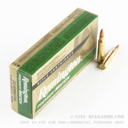 20 Rounds of .223 Ammo by Remington Premier Match - 62gr HP