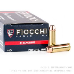 1000 Rounds of .44 Mag Ammo by Fiocchi - 240gr JHP