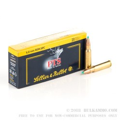 600 Rounds of 6.8 SPC Ammo by Sellier & Bellot - 110gr PTS