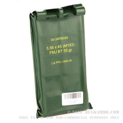 200 Rounds of 5.56x45 Ammo by Prvi Partizan - 55gr FMJBT - Sealed Battle Pack