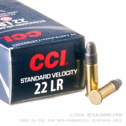 5000 Rounds of .22 LR Standard Velocity Ammo by CCI - 40gr LRN