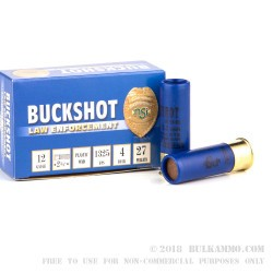 250 Rounds of 12ga Ammo by NobelSport -  #4 Buck