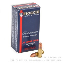 500 Rounds of .22 LR Ammo by Fiocchi - 40gr CPRN