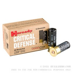 250 Rounds of 12ga Ammo by Hornady -  00 Buck