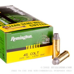 500 Rounds of .45 Long-Colt Ammo by Remington Target - 225gr LSWC